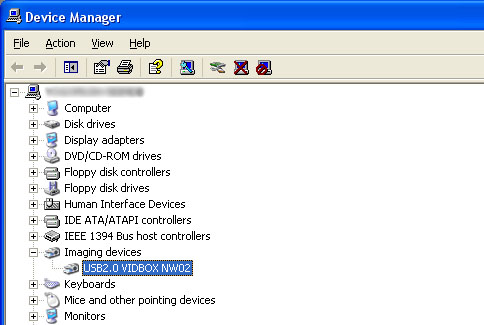 VID BOX in Device Manager