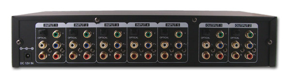 6x2 Component Matrix Video Switch - Back View