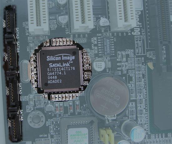 Iwill DN800-SLI Silicon Image 3114 SATA Controller