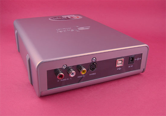 The Back Of The GSA-5169D revealing RCA inputs and S-Video input