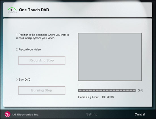 One-Touch DVD Easy Mode