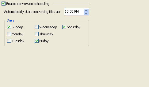 M2Convert Professional - Conversion Scheduling