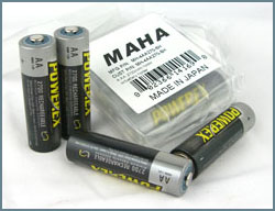 Maha PowerEx 2700mAh NiMH Rechargeable Batteries