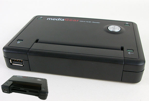 MediaGear 10 in 4 Push-Button USB2.0 Reader/ Writer