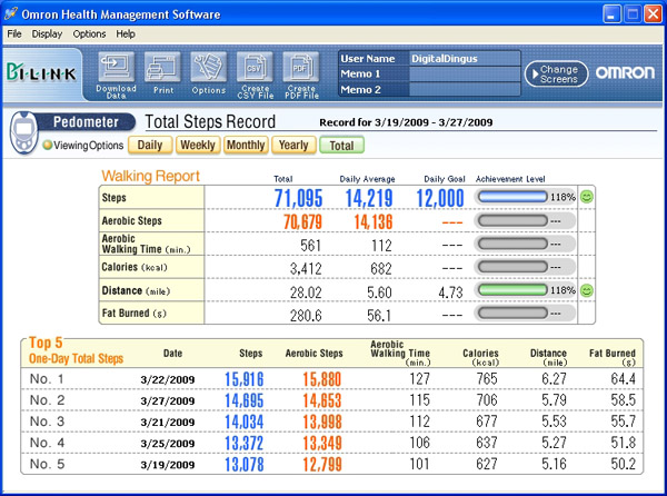 Omron Health Management Software