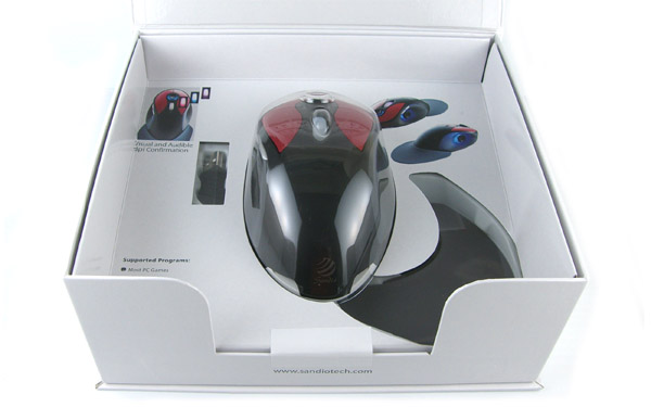 What's In The Box: Sandio 3D Game O2 Mouse