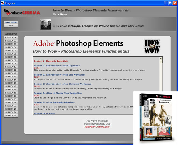 Adobe Photoshop Elements Fundamentals by Software Cinema