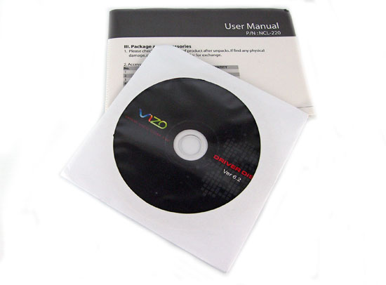 Xena user manual and driver CD